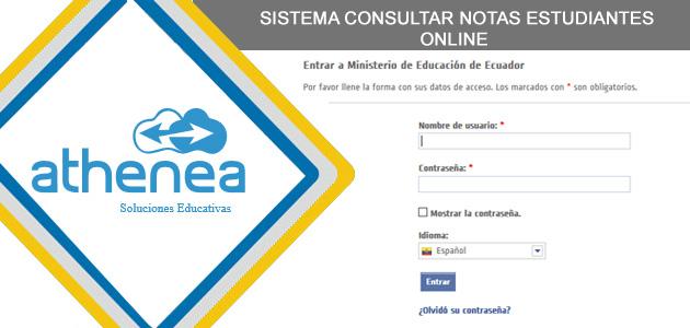 Consultar Notas de Estudiantes Ministerio de Educación Ecuador
