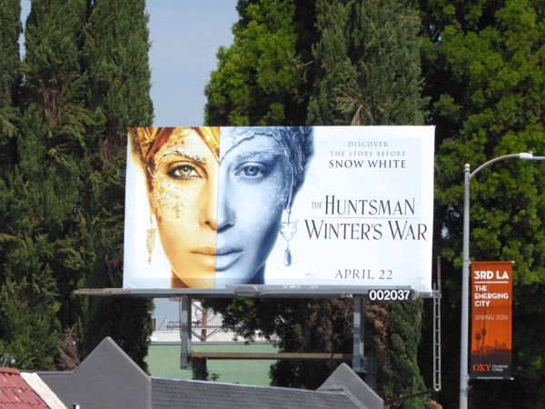 Huntsman Winters War split face billboard