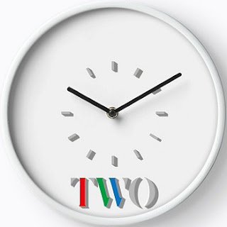 BBC Two 80s Logo Clock