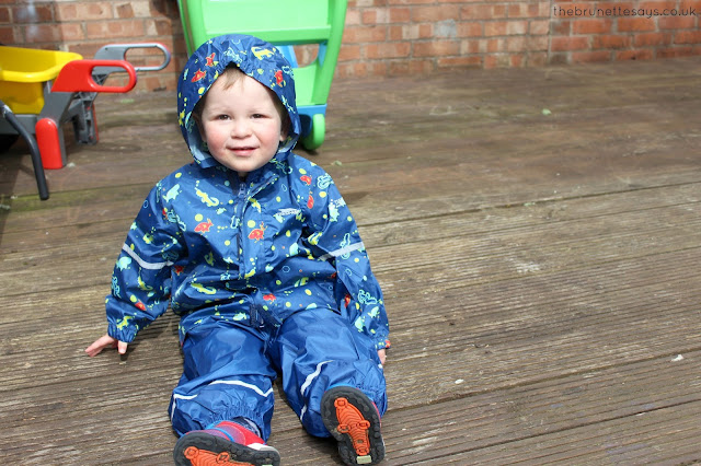 trespass, baby, toddler, rain suit, all weather, outdoor play