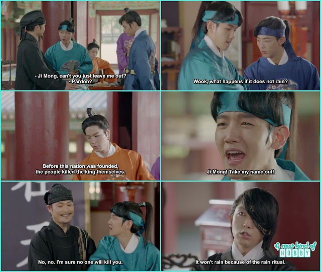 prince give their name tags for the rain ritual 10 th prince all scard by himself  - Moon Lover Scarlet Heart Ryeo - Episode 8 - Review