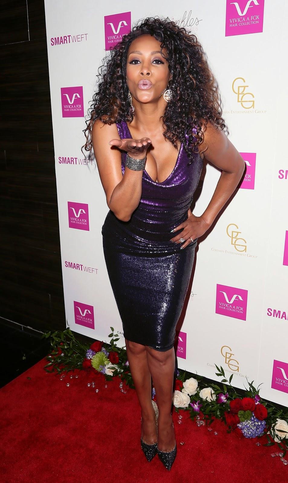 Vivica A Fox  purple sequin dress  Satin Lite House