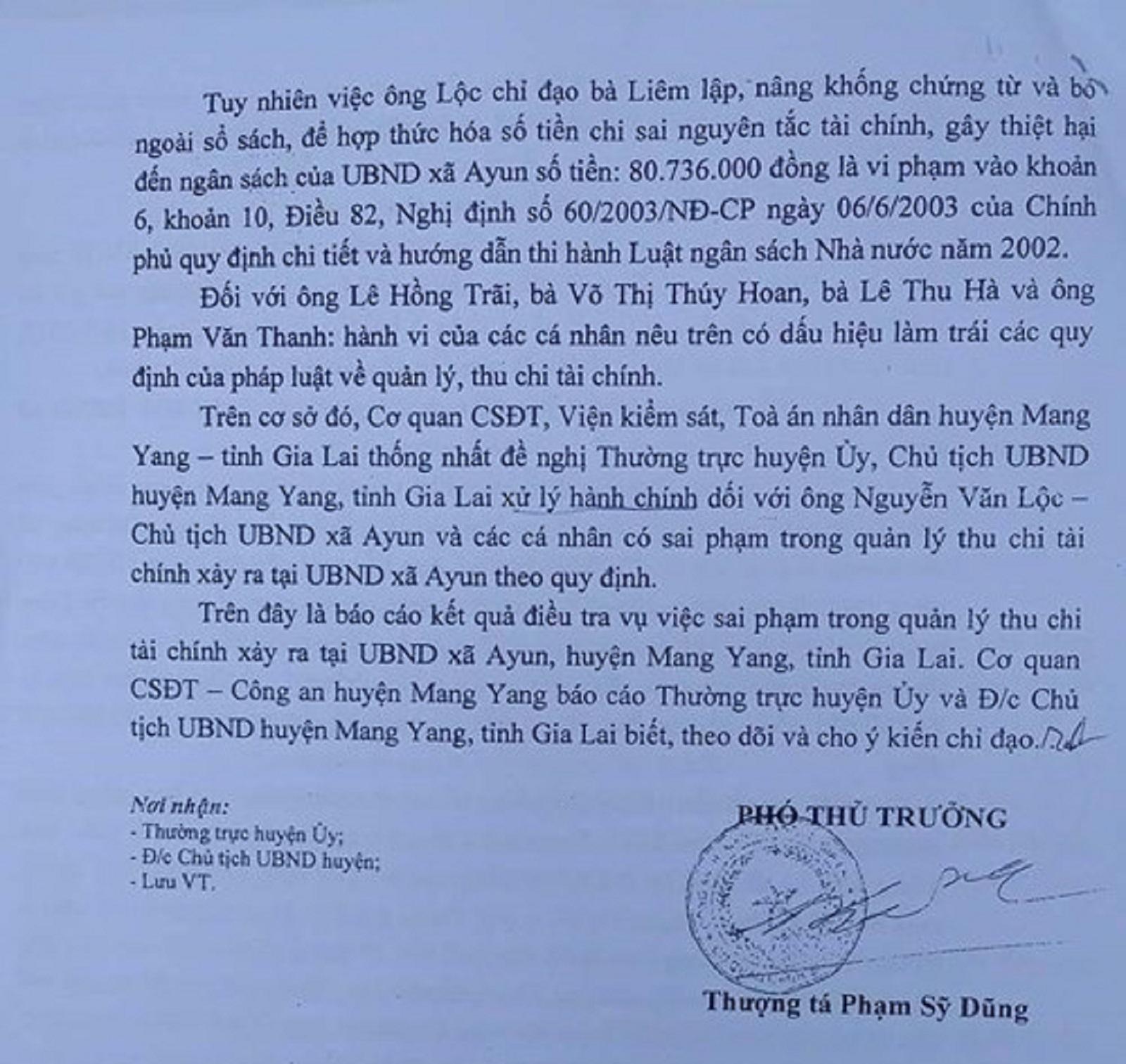 Gia Lai: Chủ tịch xã chi sai tài chính bị kỷ luật cảnh cáo