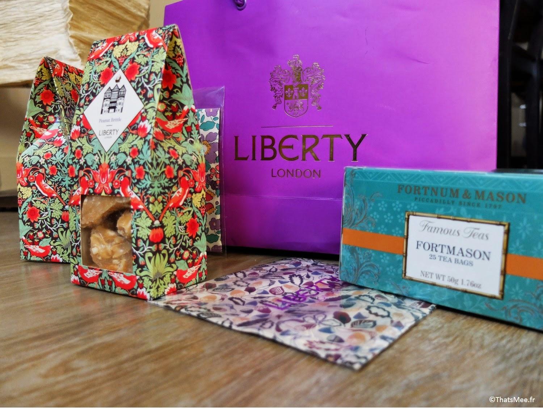 Liberty London Fortnum and Mason souvenirs Londres