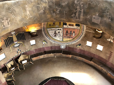 Inside the Desert View Watchtower.