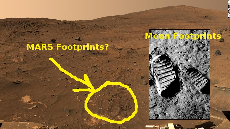Cosmological Cabbage: Human Footprints on Mars???