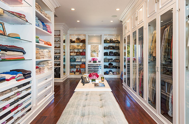 Real Housewives giant closet.