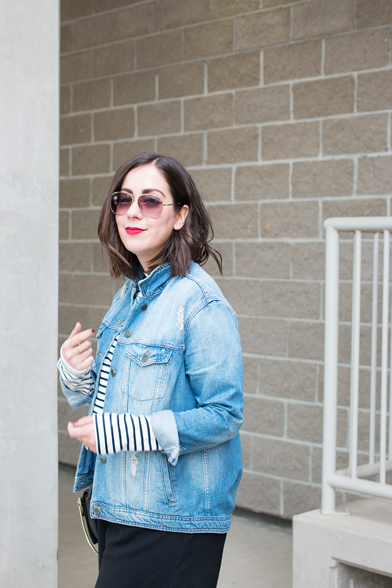 Stripes and denim for spring