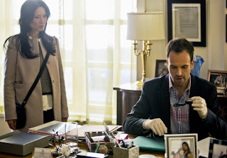 Jonny Lee Miller as Sherlock Holmes and Lucy Liu as Joan Watson in CBS Elementary