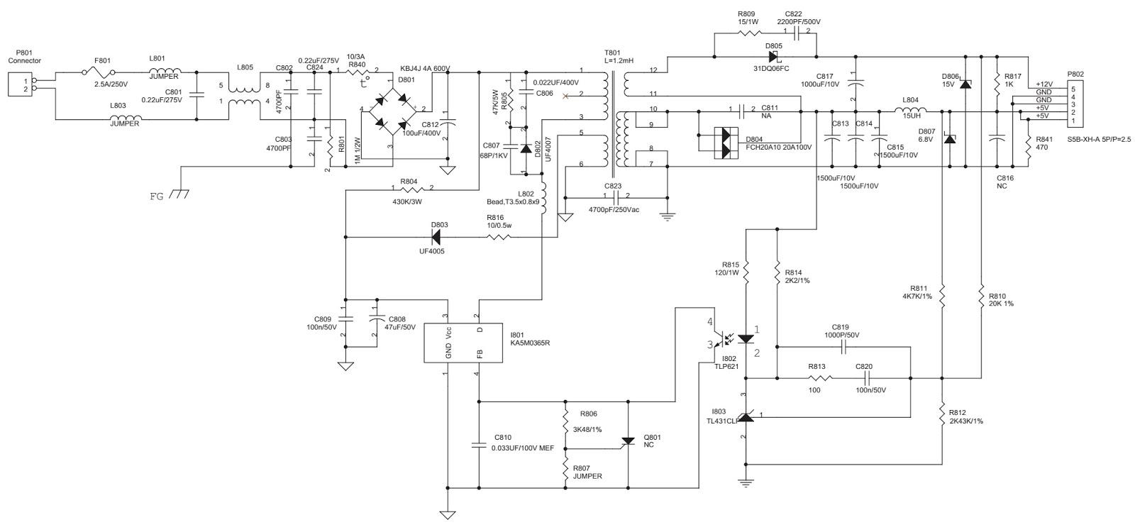 Acer AL512, Acer AL513  15 inch LCD Monitor – Circuit diagram | Electro help