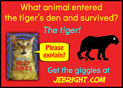 What animal entered the tiger's den and survived?