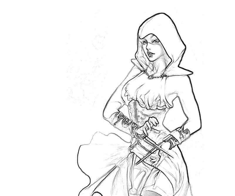 Assassin's Creed coloring pages | Print and Color.com | 667x800