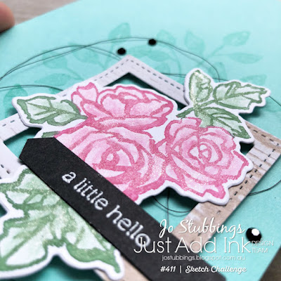 Jo's Stamping Spot - Just Add Ink Challenge #411 using Petal Palette Stamp Set and Petals & More Framelits by Stampin' Up!