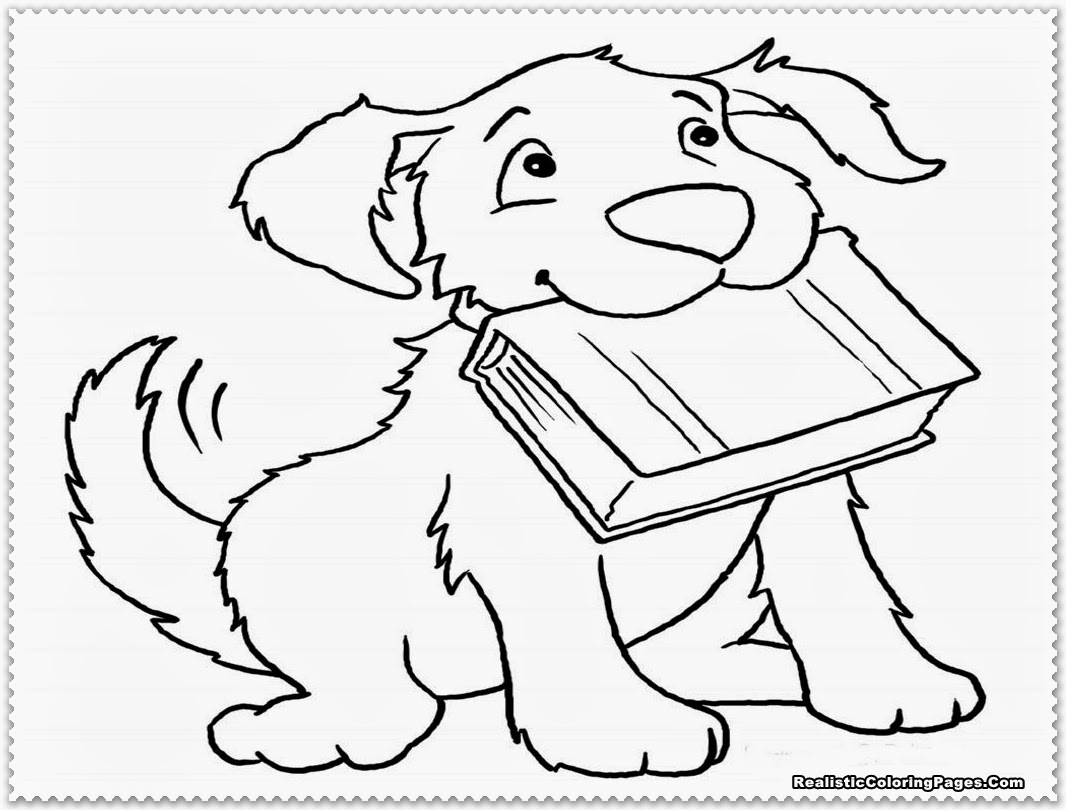 Husky Puppy Coloring Pages Printable