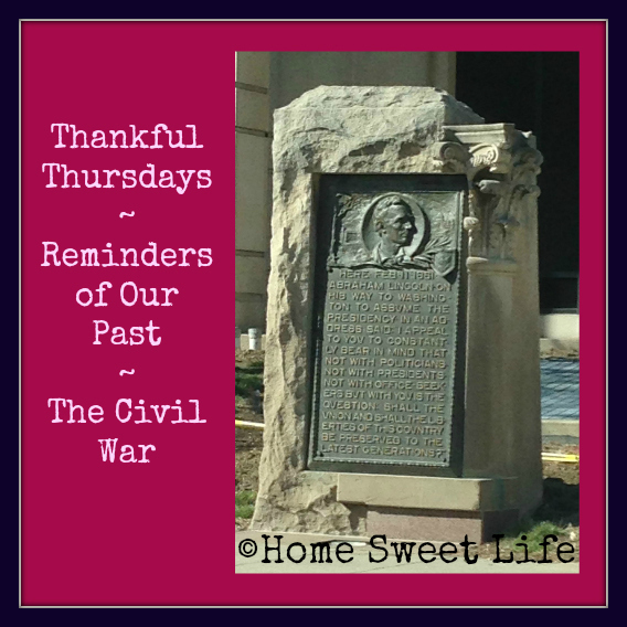 Historical reminders, thankfulness