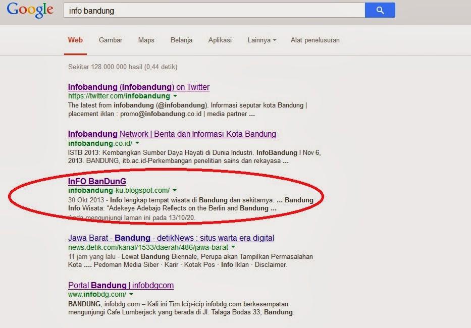 top ten in google website lebih populer di google
