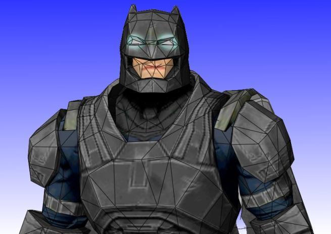 PAPERMAU: Batman - Dawn Of Justice Diorama Paper Model - by