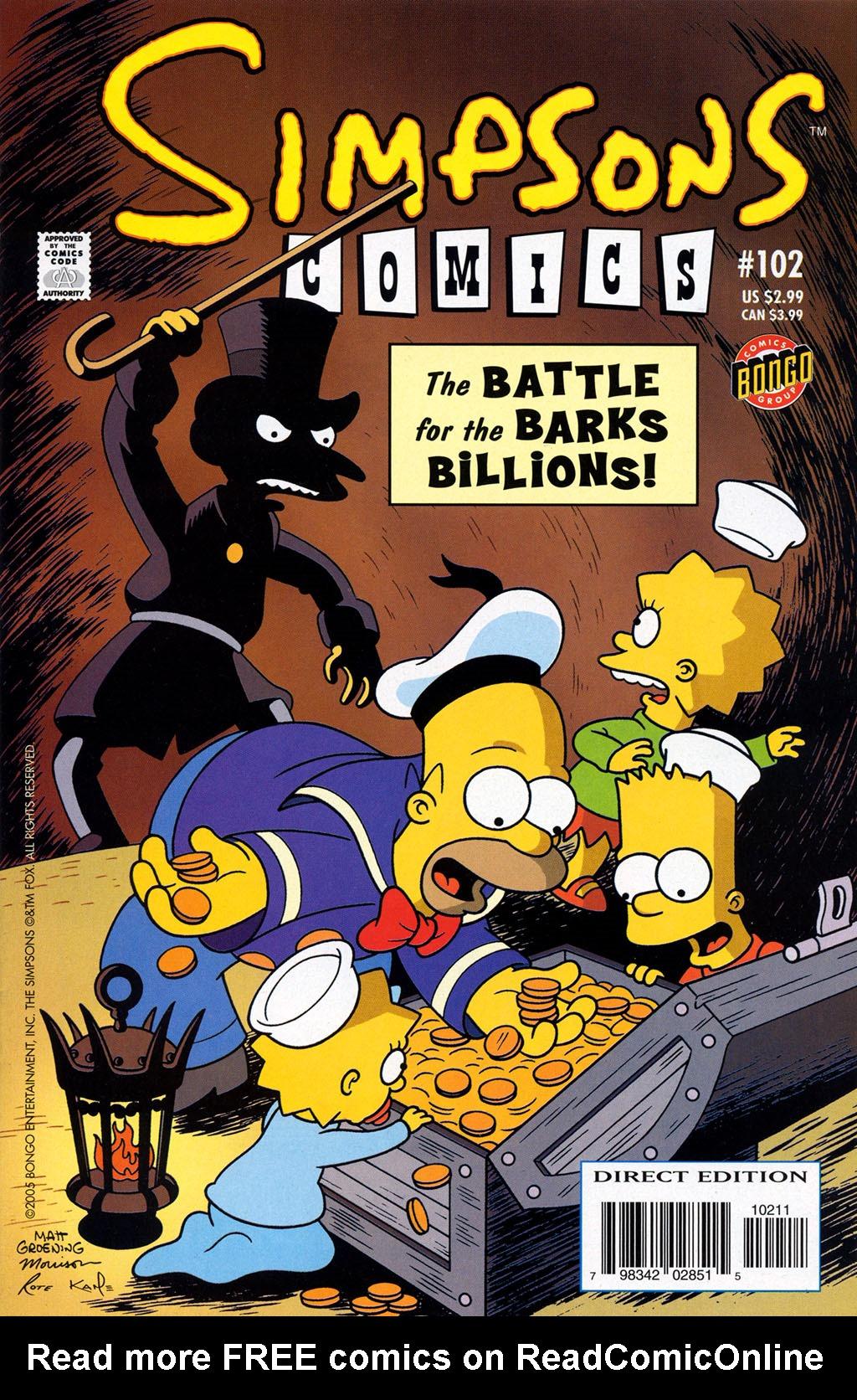 Read online Simpsons Comics comic -  Issue #102 - 1