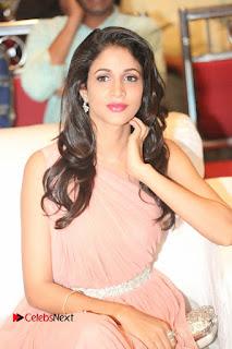 Actress Lavanya Tripathi Pictures in Long Dress at Srirastu Subhamastu Pre release Function  0018.JPG