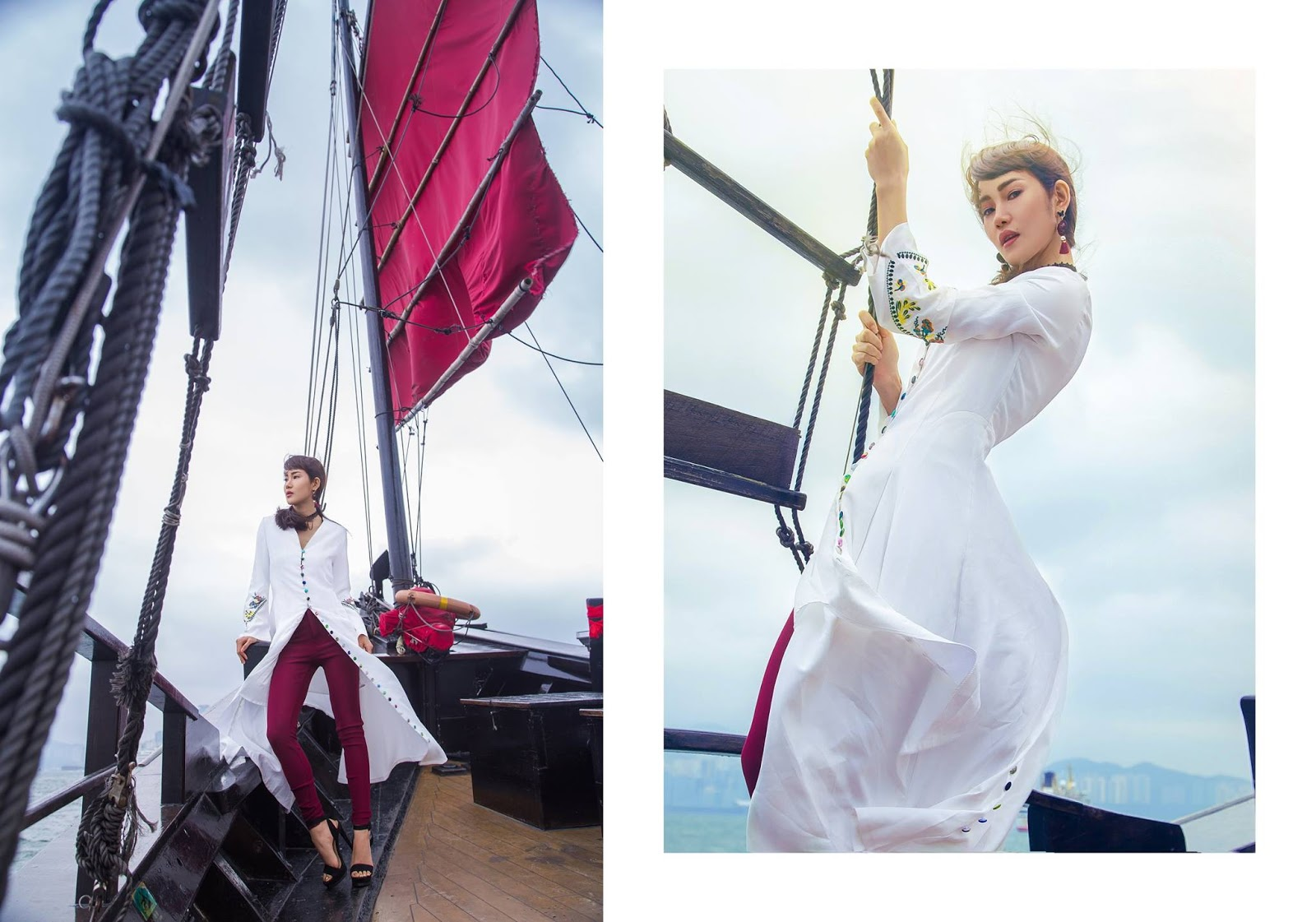 "Awn Seng Stunning Look And Fashion ""TRAVEL CHIC, TRAVEL HONG KONG"" Myanmar National Airline Inflight Magazine"