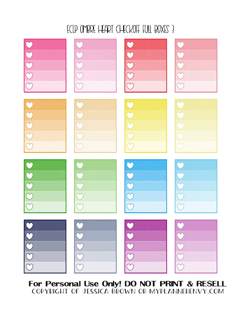 Free Printable Ombre Heart Checkoff Full Boxes 3 of 3 for the ECLP/RECS Planners from myplannerenvy.com