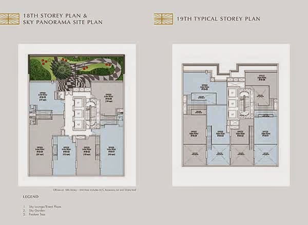 Crown @ Robinson 18th and 19th Storey Floor Plans
