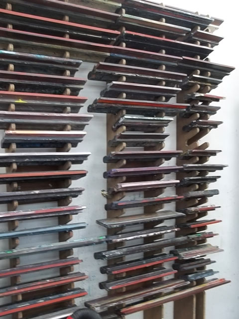 New Zealand Printmakers Squeegee Storage