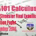 Calculus Previous S1 Final Examination Question Paper December 2016