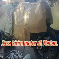 Pengiriman motor di Medan.