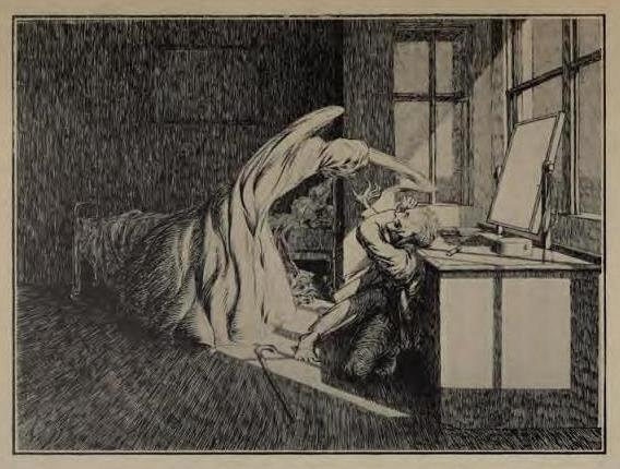 Illustration from Ghost Stories of an Antiquary by M. R. James