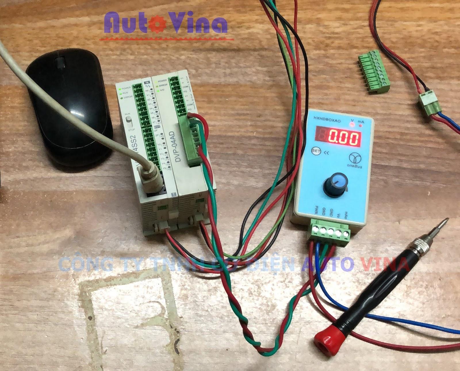 Tài liệu hướng dẫn lập trình PLC Delta DVP14SS2 kết nối module analog input DVP04AD-S
