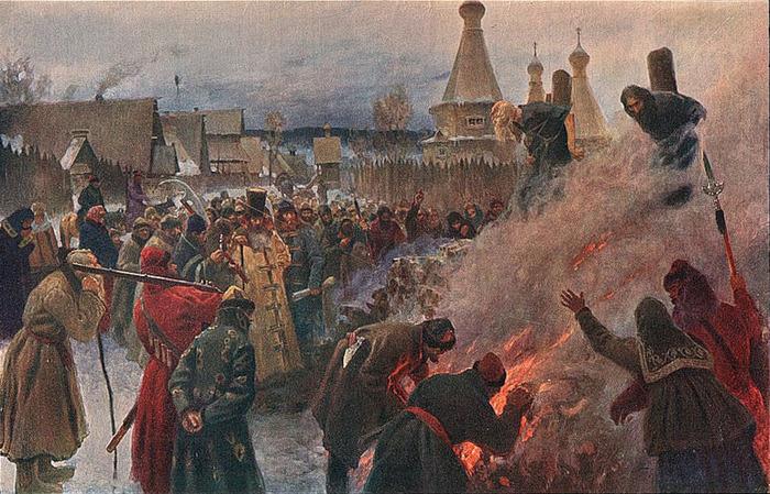 Сожжение протопопа Аввакума. С картины художника Григория Мясоедова