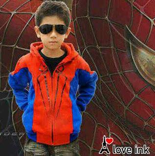 Jaket Anak Spiderman Red - Harga Saudara