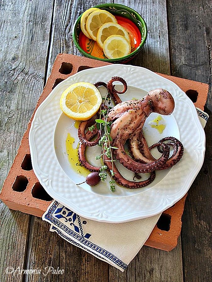 Grilled Octopus - Polpo Grigliato alla Greca di Armonia Paleo