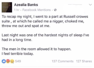 Russell Crowe throws Azealia Banks out of his hotel room