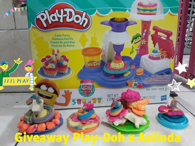 Giveaway Play-Doh Cake Party worth RM99.90 x Azlinda Alin