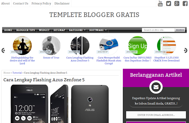 Gratis Template Blogger  ( GREATWANDA ) Responsif dan SEO Friendly