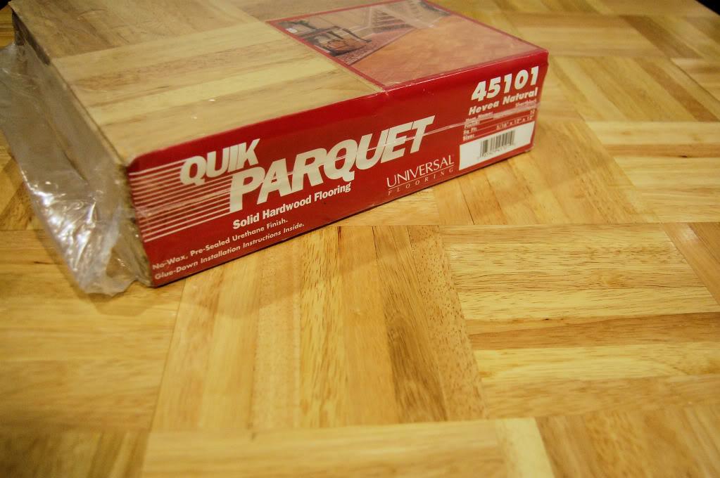 Sàn gỗ cao su - vuông