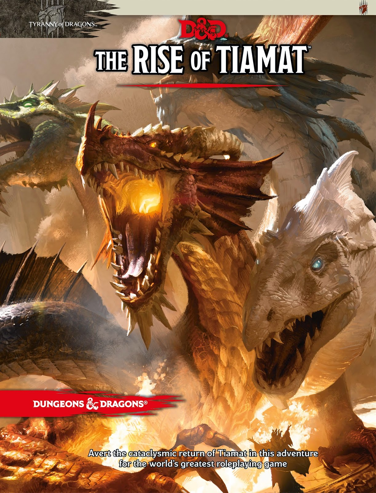 Dungeons and Dragons The Rise of Tiamat front cover.