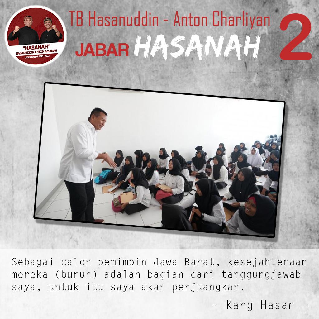 Sambangi Pabrik, Kang Hasan Siap Perjuangkan Nasib Buruh