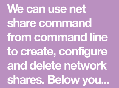 How to view all network shares in Windows | Net Share command list Full Detail