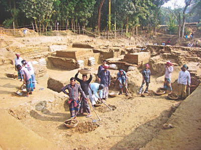 16 Buddhist stupas unearthed in Bangladesh