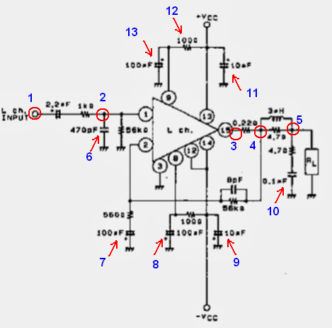 Diagrama del IC STK401-330 para resolver fallas en el circuito electrónico