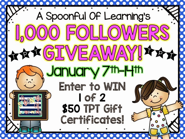1,000 Followers Giveaway!