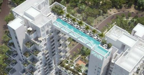 World highest swimming pool singapore sky habitat - Tallest swimming pool in the world ...