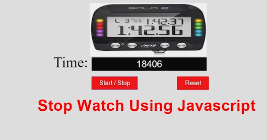 Create a Stopwatch in JavaScript