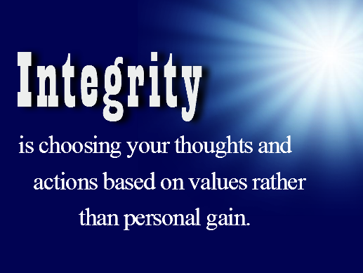 Integrity personal success