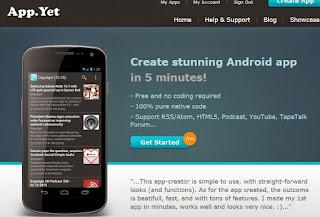 Membuat Aplikasi Android Tanpa Coding - Appyet