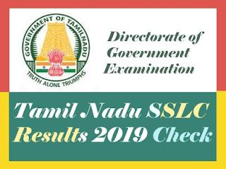 Tamil Nadu SSLC Results 2019, TN SSLC Results 2019, Tamil Nadu 10th Results 2019, TN 10th Results 2019