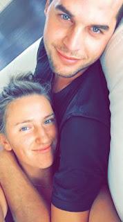 Azarenka Hugging With Her Boyfriend